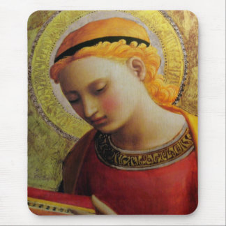 Angel Reading Bible Mouse Pad