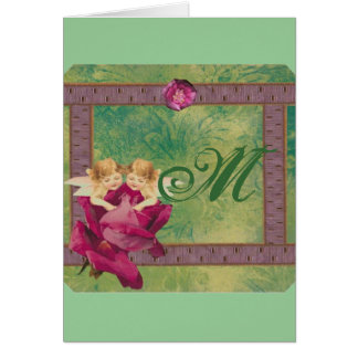 Angel Rose Monogram Card