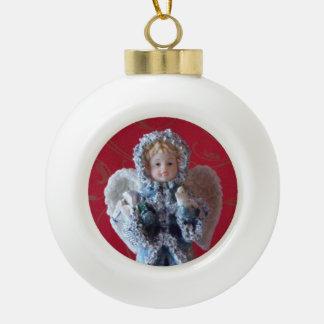 Angel Round White Ornament
