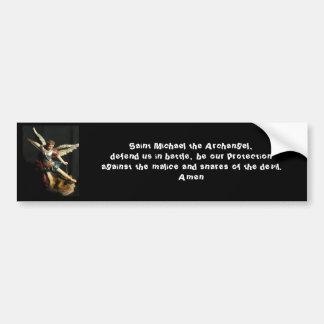 Angel Saint Michael & Prayer Bumper sticker