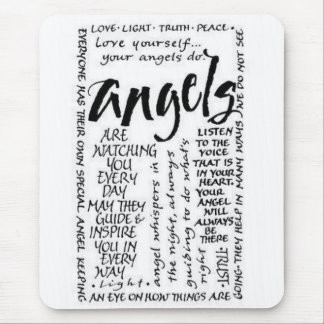 Angel Saying s Mouse Pads