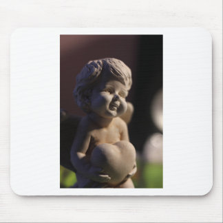Angel sculpture mouse pad