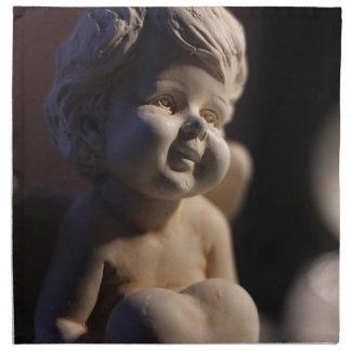 Angel sculpture napkin