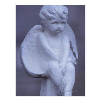Angel sculpture postcard
