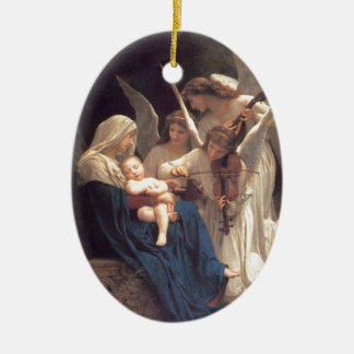 Angel Serenade Ceramic Ornament