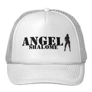 ANGEL SHALOME WHITE TRUCKER HAT