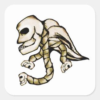 Angel Skull Square Stickers