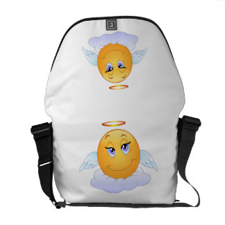 Angel smiley courier bag