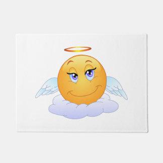 Angel smiley doormat