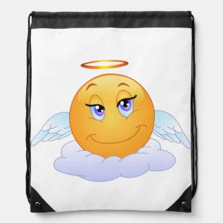Angel smiley drawstring bag