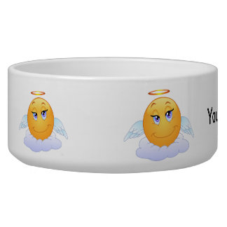 Angel smiley pet food bowl