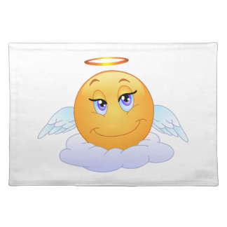 Angel smiley placemat