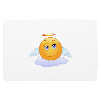 Angel smiley rectangular photo magnet