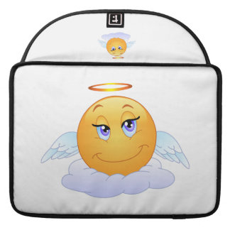 Angel smiley sleeve for MacBooks