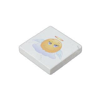 Angel smiley stone magnet