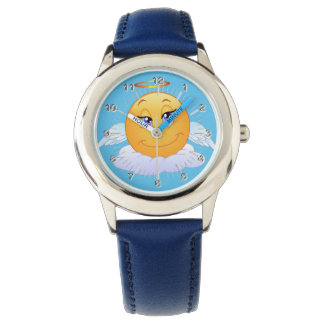 Angel smiley wrist watches