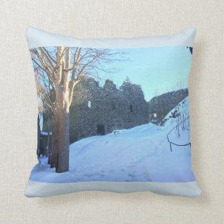 Angel Snow Throw Pillow