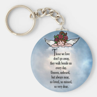 """Angel """"So Loved"""" Basic Round Button Key Ring"""