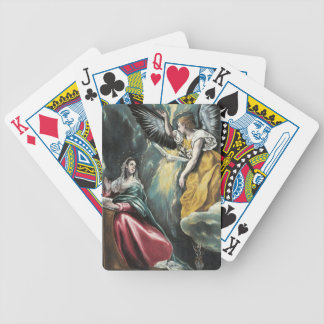 Angel Speaking to Mary Bicycle Playing Cards