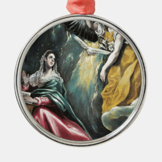 Angel Speaking to Mary Metal Ornament