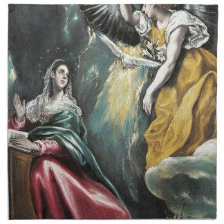 Angel Speaking to Mary Napkin