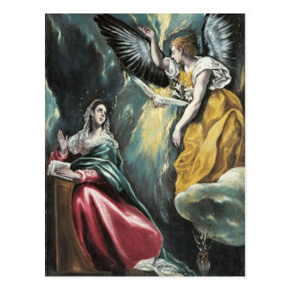 Angel Speaking to Mary Postcard