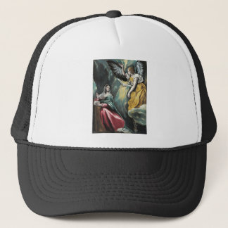 Angel Speaking to Mary Trucker Hat