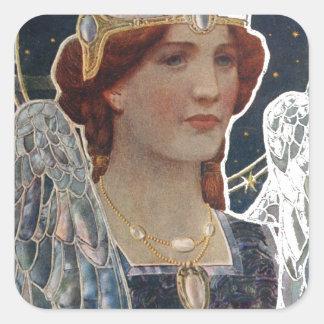 Angel Square Sticker