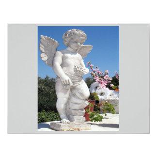 Angel Statue In Grey II 11 Cm X 14 Cm Invitation Card