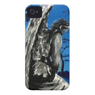Angel Statue in Winter iPhone 4 Case-Mate Cases