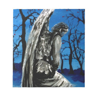 Angel Statue in Winter Notepad