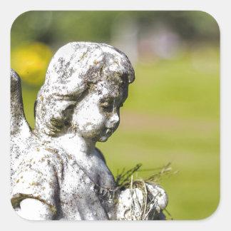 Angel Statue Square Sticker