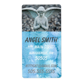 Angel Statue Watercolor Home/Business lg address Shipping Label