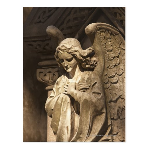 Angel Statue with Crossed Hands, Buenos Aires Post Cards