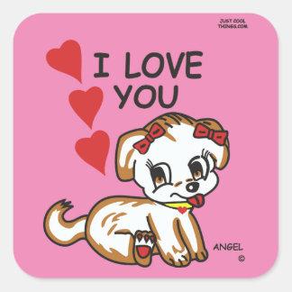 Angel Sticker Square Sticker