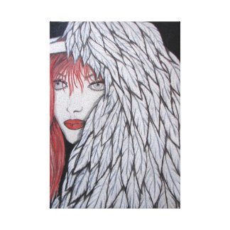 angel stretched canvas print