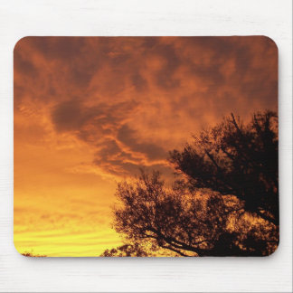 Angel Sunset Mouse Pad