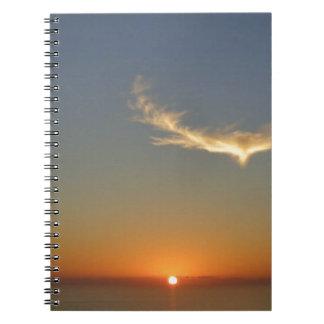 angel sunset notebook