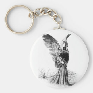 angel tattoo key ring