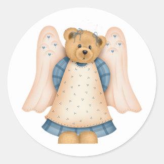 Angel Teddy Bear D8 Stickers