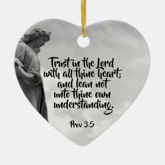 Angel Trust in the Lord Quote Inspirational Ceramic Ornament