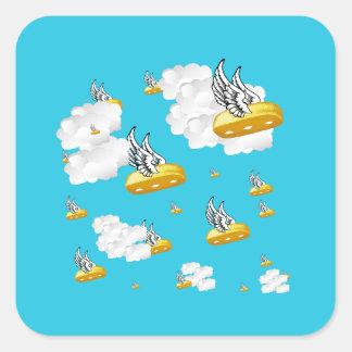 Angel Twinkies Square Sticker