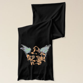 ANGEL UST ART PRINT ON SCARF