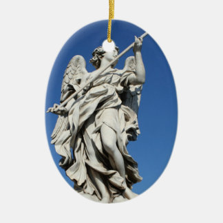 angel V Ceramic Oval Decoration