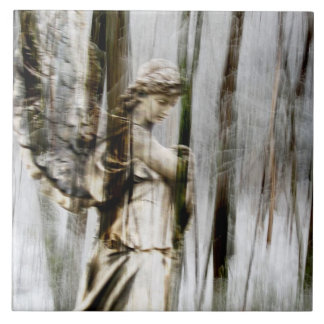 Angel Walks Through Winter Trivet