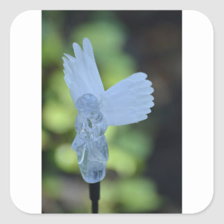 Angel Watch Over Us Square Sticker