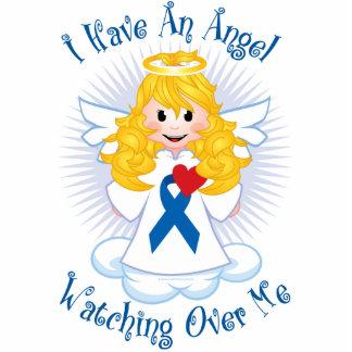 Angel Watching Over Me Blue Ribbon Photo Cutouts