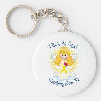 Angel Watching Over Me Yellow Ribbon Key Ring