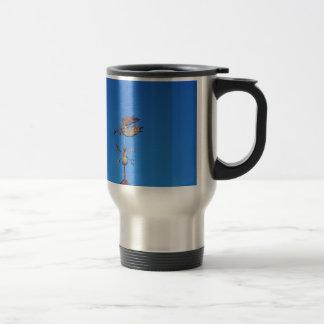 Angel Weather Vane Bright Blue Sky Stainless Steel Travel Mug