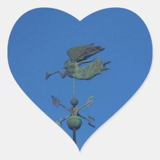 Angel Weather Vane Heart Sticker